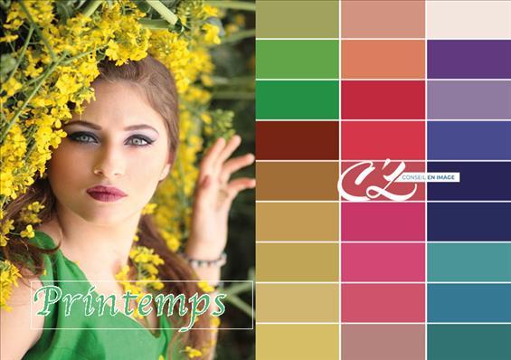 Votre colorimétrie est printemps